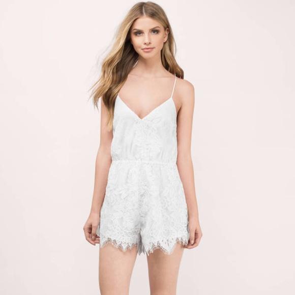 b8daf48ec2b0 Tobi White Lace Romper